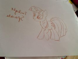 Twilight Sparkle Drawing by MarisaPony