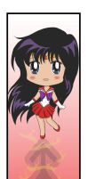 Sailor Mars Bookmark by MaddyLineArt