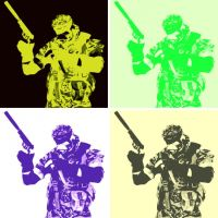 Metal Gear Solid Pop Art Big Boss 2 by TheGreatDevin