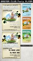 Easter Party flyer Template by Hotpindesigns