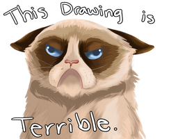 Tard the Grumpy Cat by AtrumLupusLuna