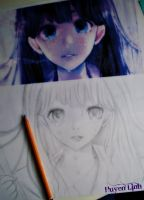 Sketch of Anime Girl by Huyen-Linh