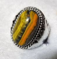 Bumblebee jasper ring by FlagstaffTraders