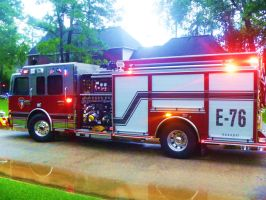 Spring Fire Department Engine 76 by SwiftWindSpirit