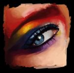 Eye Painting from Tutorial. by crystal-89