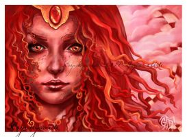 Fire Gaze - la Reina Roja by Gloria-T-Dauden