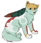 Winged Wolf Adopt - Moved by Feralx1