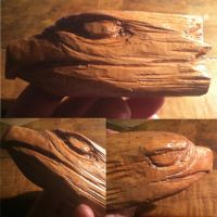 Eagle Head carving practice by qetza