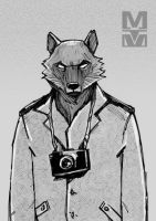 Wolf with a camera by MekareMadness