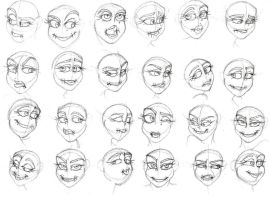 Luljeta eye and mouth practice-One by VotrePoison