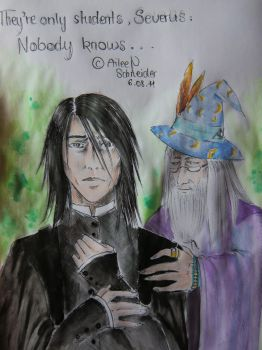 Snape - First day as teacher by FarrahPhoenix