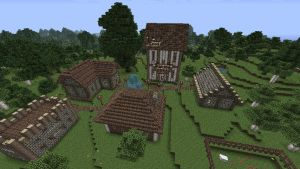 Minecraft - medieval village by CyberMiez