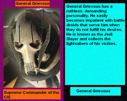 Files of Evil: General Grievous by DarthVaderXSnips