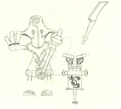Juggernaut Rayman and Healing Ward by charli3brav0
