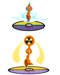 Rotom: Normal and Fan Forme by M-A-C-D