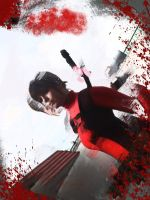 lady deadpool game over by ariahdawn