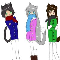 Some of my OC's by Riaka-the-Cat