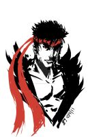 Ryu Sketch by mazingerpip