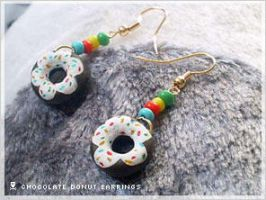 DIY Chocolate Donut Earrings by numb-existence