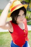 Luffy female version - One Piece by DarkTeshii