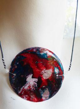 Handmade Round Shell Multicolored Long Necklace by FragmentsOfMyrh
