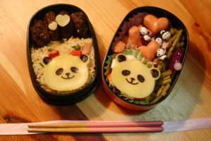 Bento Pandas in Love by RiYuPai