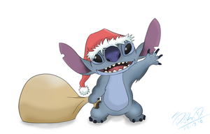 Have a Stitch holidays xD by GalletoconK