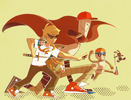 DIRK STRIDER AND THE BROBOTS by LaWeyD