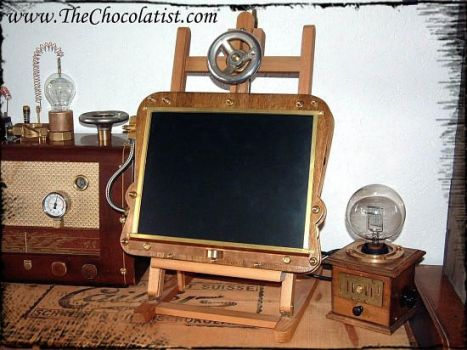 The steamPAD - a Steampunk Tablet PC by thechocolatist