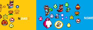 SMW Styled NSMB games 2012 by redyoshiU