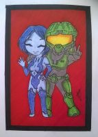 Chief And Cortana by Jocey006