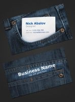 Jeans Business Card by DarkoAb
