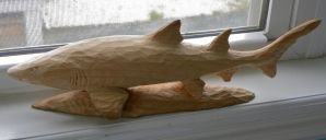 Whittled Sand Shark by carvenaked