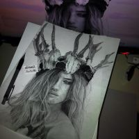 drawing Rosie Huntington (done) by Aeriz85