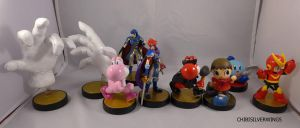 10th Set of Custom Amiibo by ChibiSilverWings