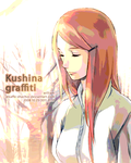 Kushina graffiti by kaffe-shachor