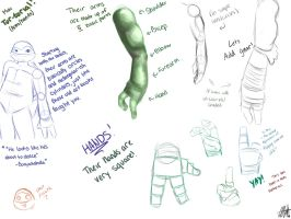 Turtle Arms and Turtle Hands Tutorial by MeinAngelx3
