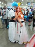 Otakon 2013: Grimmjow and Orihime by HanyouInny