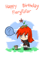 Happy Birthday FieryFafar! by yassui
