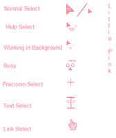 Cursor Set :: Little Pink by xSweetBunny