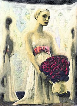 Jessica Stam Wedding Painting by JoelKelly