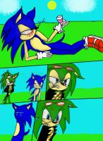 Drunk sonic by Jiangshi-the-wolf