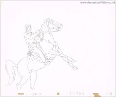 Original Lone Ranger Production Cel Drawing by AnimationValley
