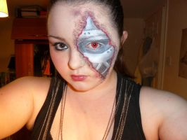 Terminator Make-up by Wings-On-Fire