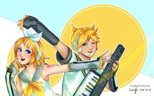 Rin and Len by Swarelle