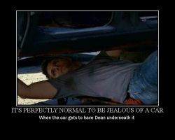 Supernatural Dean the Mechanic by narutothesage