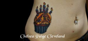 Evil Cupcake - Tattoo by SmilinPirateTattoo