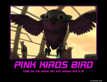 Pink Kiros Bird by JessicaBane501