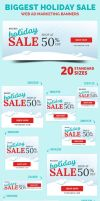 Biggest Holiday Sale Web Ad Marketing Banners by webduckdesign