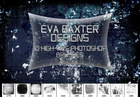 EVA BAXTER DESIGNS - 10 LARGE GRUNGE BRUSHES by EvaTakesNoPrisoners